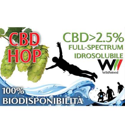Idrosolubile CBD 2,5% da Luppolo full-spectrum